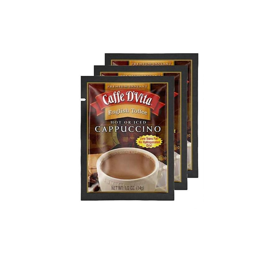 Caffe D'Vita Instant English Toffee Cappuccino Envelopes