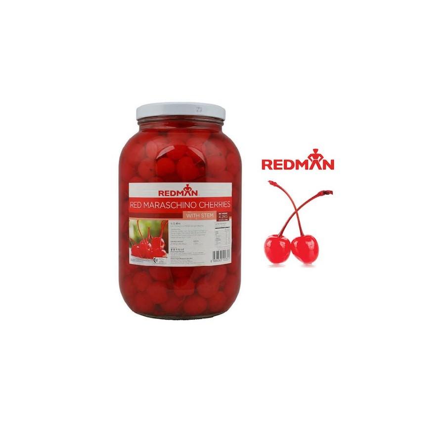 Maraschino Cherries with Stem Red 4.2KG