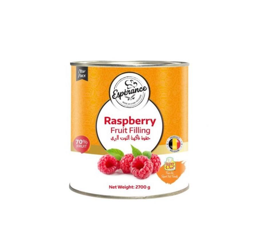 ESPERANCE RASPBERRY FRUIT FILLING 70 %  2.7 KG