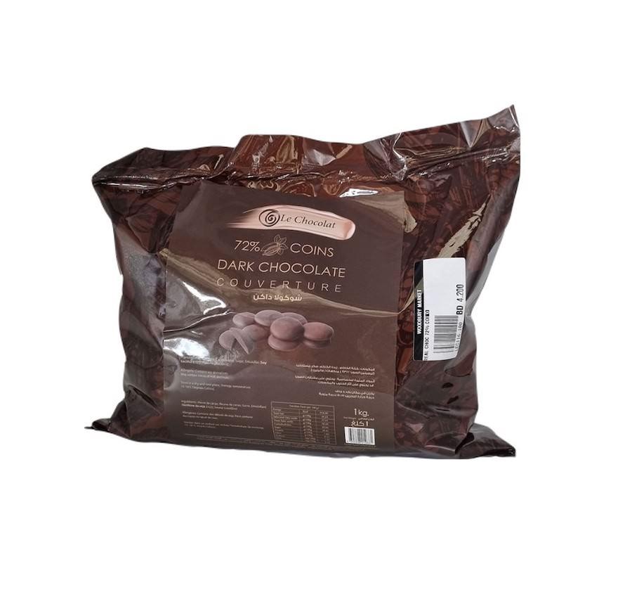 Le Chocolat Dark Chocolate (72%) 1 KG
